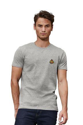 T-shirt manica corta uomo misto cotone con logo Foody